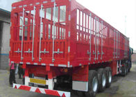 Double Fence Semi Trailer Truck / Long Vehicle 3 Axle Semi Trailer Color Customized