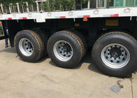 Tri Axle Container Trailer Truck Q345 Material With 30-40 Tons Loading Capacity