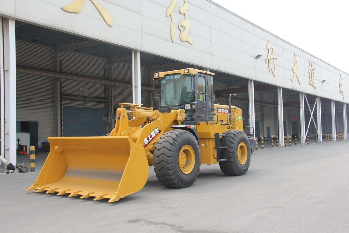 3m3 Bucket Wheel Loader XCMG ZL50G 5 Tons Operating Weight For Sand Stone